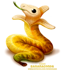 Daily Paint 2320. Bananaconda by Cryptid-Creations