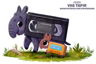 Daily Paint 2321. VHS Tapir by Cryptid-Creations