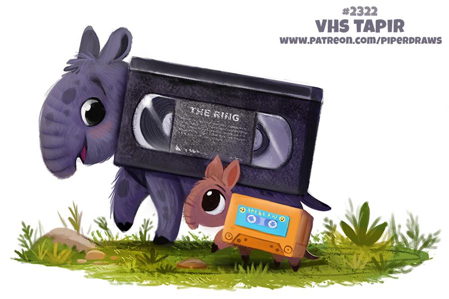 Daily Paint 2321. VHS Tapir