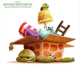 Daily Paint 2322. Moving Box Turtle by Cryptid-Creations