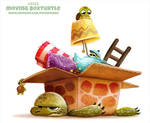 Daily Paint 2322. Moving Box Turtle