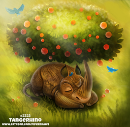 Daily Paint 2323. Tangerhino by Cryptid-Creations