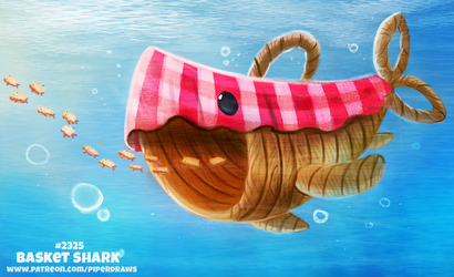Daily Paint 2324. Basket Shark by Cryptid-Creations