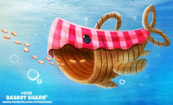 Daily Paint 2324. Basket Shark