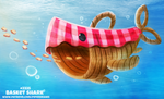 Daily Paint 2324. Basket Shark