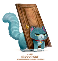 Daily Paint 2325. Indoor Cat by Cryptid-Creations