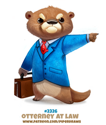 Daily Paint 2326. Otterney At Law by Cryptid-Creations