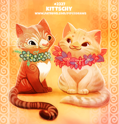 Daily Paint 2327. Kittschy by Cryptid-Creations