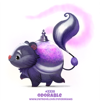 Daily Paint 2328. Odorable by Cryptid-Creations