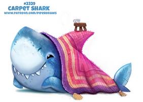 Daily Paint 2329. Carpet Shark
