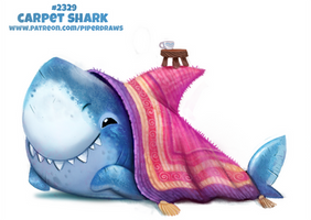 Daily Paint 2329. Carpet Shark
