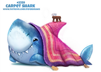 Daily Paint 2329. Carpet Shark by Cryptid-Creations