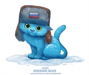 Daily Paint 2330. Russian Blue by Cryptid-Creations