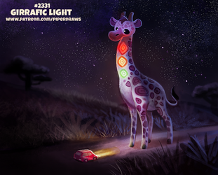 Daily Paint 2331. Girrafic Light by Cryptid-Creations