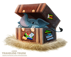Daily Paint 2332. Traveling Trunk