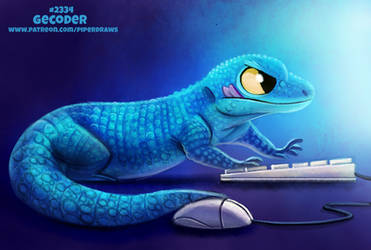 Daily Paint 2334. Gecoder by Cryptid-Creations