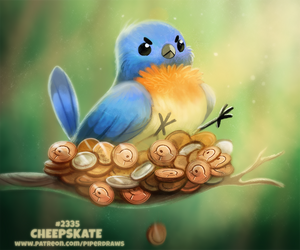 Daily Paint 2335. Cheepskate by Cryptid-Creations