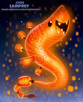Daily Paint 2336. Lamprey by Cryptid-Creations