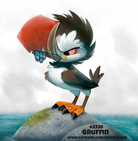 Daily Paint 2338. Gruffin by Cryptid-Creations