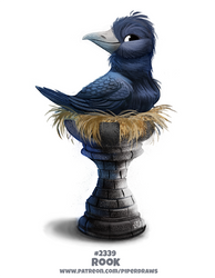 Daily Paint 2339. Rook by Cryptid-Creations