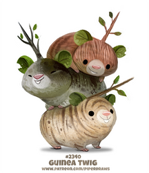 Daily Paint 2340. Guinea Twig by Cryptid-Creations
