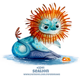 Daily Paint 2341. Sealion by Cryptid-Creations