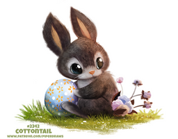 Daily Paint 2342. Cottontail by Cryptid-Creations