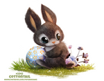 Daily Paint 2342. Cottontail