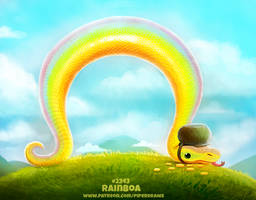 Daily Paint 2343. Rainboa by Cryptid-Creations