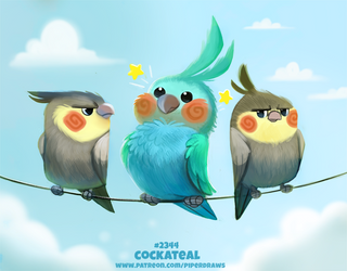 Daily Paint 2344. Cockateal by Cryptid-Creations