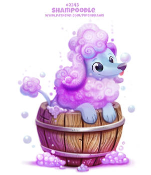 Daily Paint 2345. Shampoodle by Cryptid-Creations