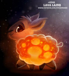 Daily Paint 2348. Lava Lamb by Cryptid-Creations