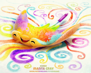 Daily Paint 2350. Manta Cray by Cryptid-Creations