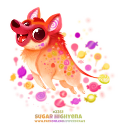 Daily Paint 2351. Sugar Highyena by Cryptid-Creations