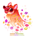 Daily Paint 2351. Sugar Highyena