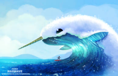 Daily Paint 2352. Narwave by Cryptid-Creations