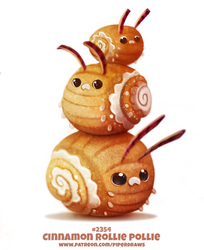 Daily Paint 2354. Cinnamon Rollie Pollie by Cryptid-Creations