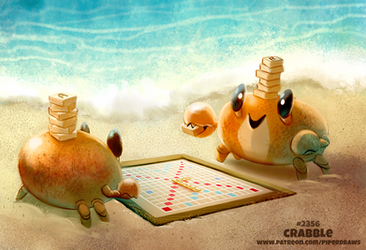 Daily Paint 2357. Crabble by Cryptid-Creations