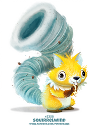 Daily Paint 2358. Squirrelwind by Cryptid-Creations