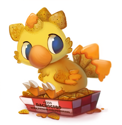 Daily Paint 2359. Nachocobo by Cryptid-Creations