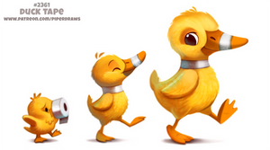 Daily Paint 2361. Duck Tape