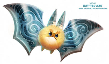 Daily Paint 2362. Bat-tle Axe by Cryptid-Creations