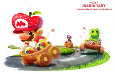 Daily Paint 2367. Mario Tart