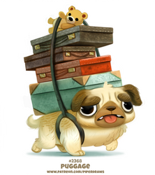 Daily Paint 2368. Puggage by Cryptid-Creations
