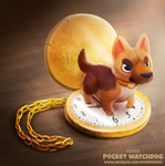 Daily Paint 2369. Pocket Watchdog by Cryptid-Creations