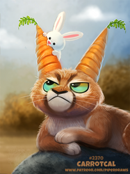 Daily Paint 2370. Carrotcal by Cryptid-Creations