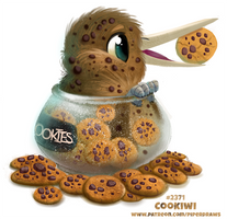Daily Paint 2371. Cookiwi by Cryptid-Creations