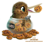 Daily Paint 2371. Cookiwi