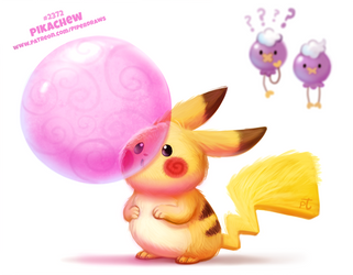 Daily Paint 2372. Pikachew by Cryptid-Creations