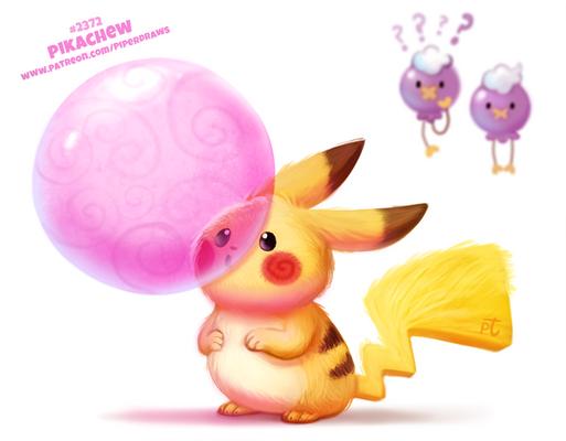 Daily Paint 2372. Pikachew